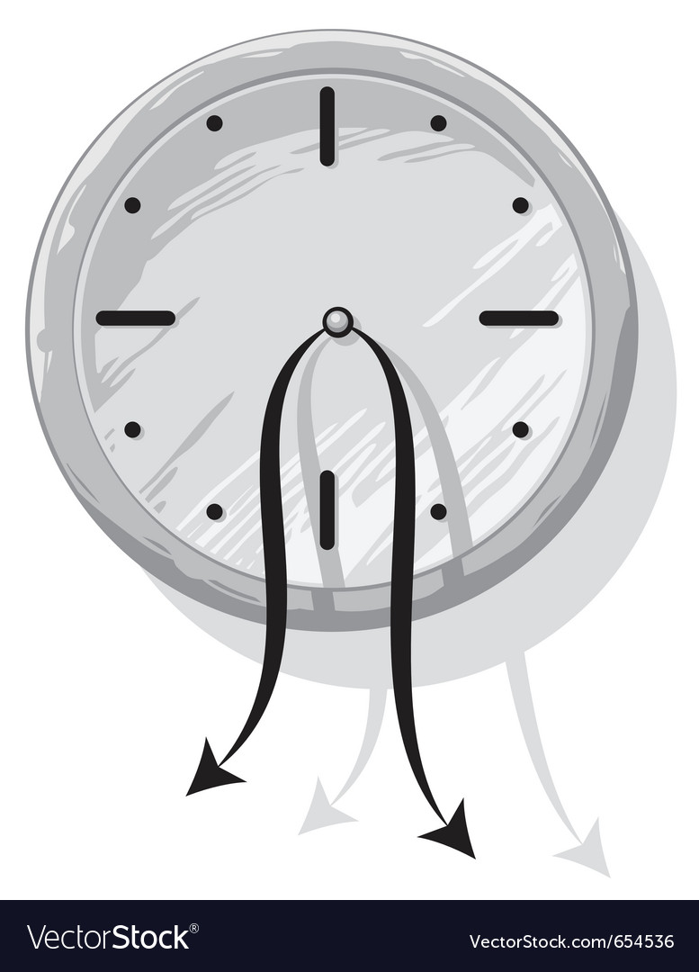 Clock with weak hanging pointers vector   Price: 1 Credit (USD $1)