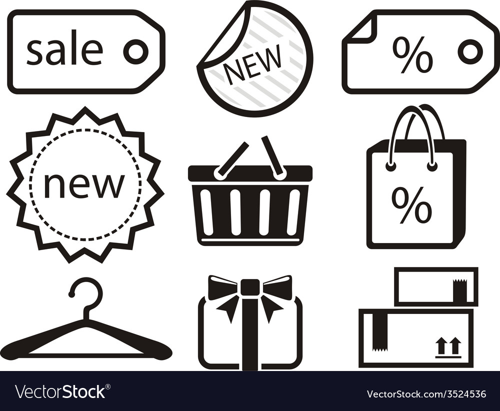 Collection of shopping icons vector | Price: 1 Credit (USD $1)