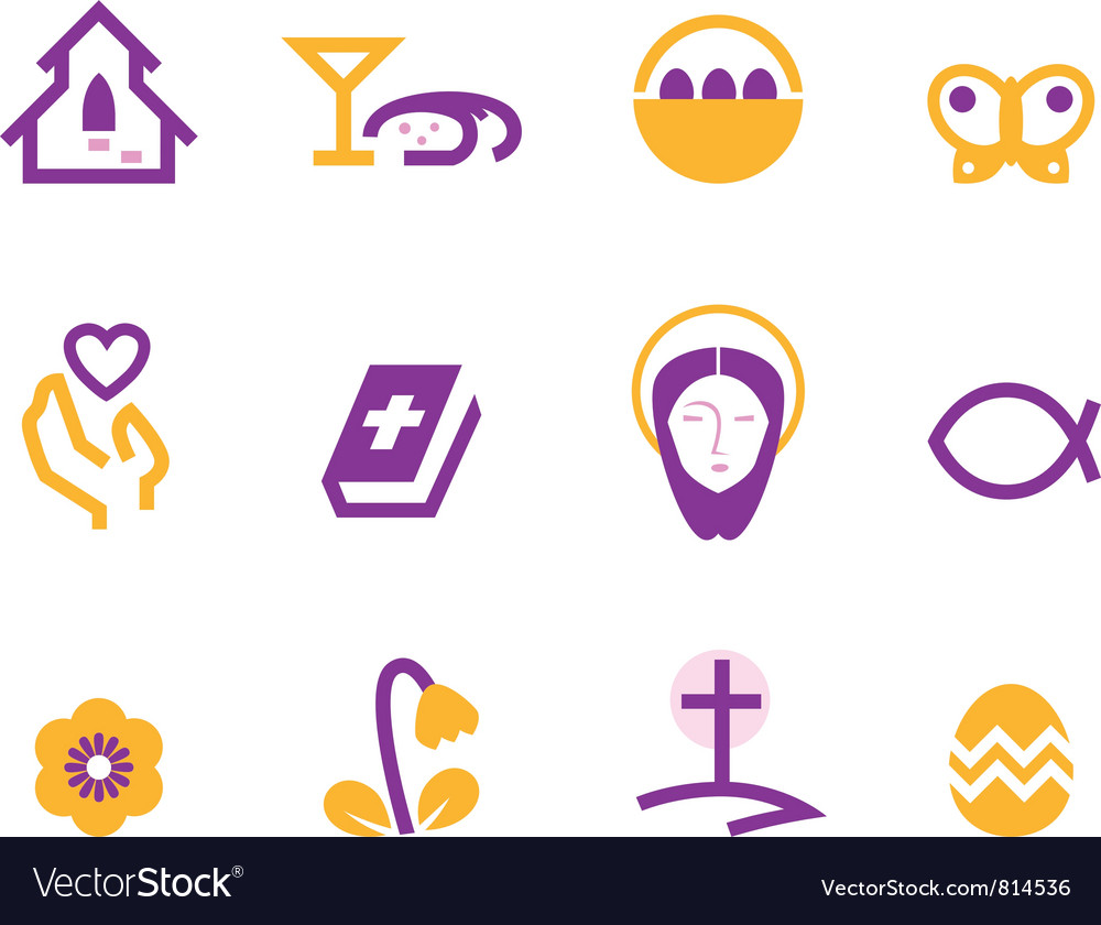 Easter and christianity icons vector | Price: 1 Credit (USD $1)