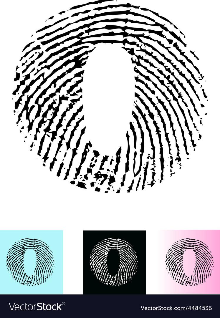 Fingerprint alphabet letter o vector   Price: 1 Credit (USD $1)