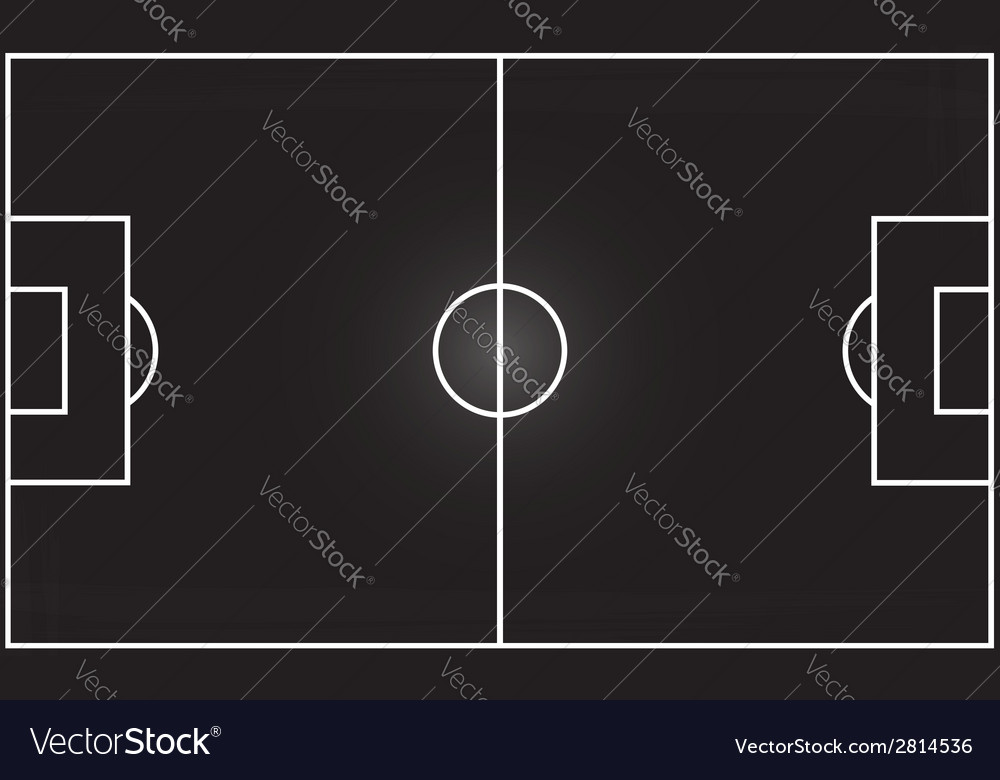 Football field on blackboard vector | Price: 1 Credit (USD $1)
