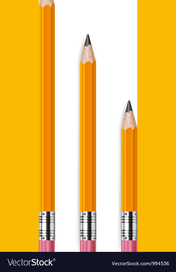Pencils different lengths v vector | Price: 1 Credit (USD $1)