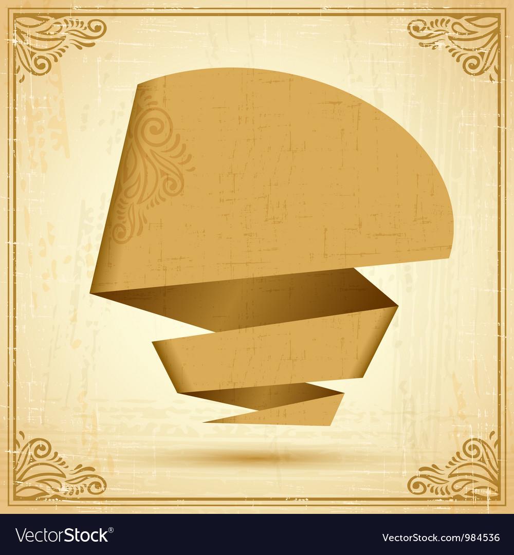 Retro origami speech bubble background eps 10 vector   Price: 1 Credit (USD $1)