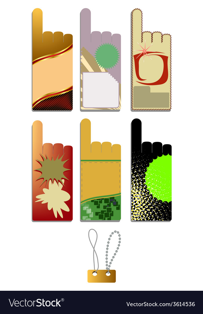 Set of blank stickers vector | Price: 1 Credit (USD $1)