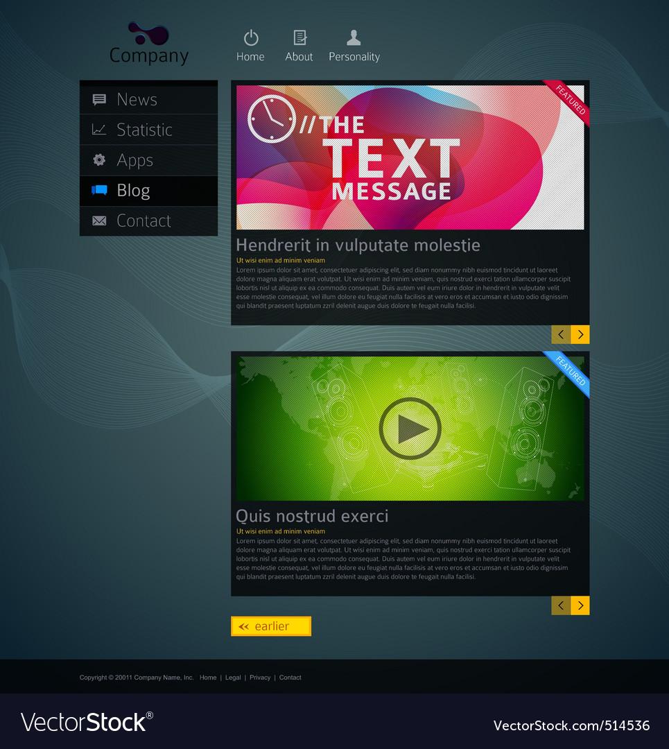 Website design template vector   Price: 3 Credit (USD $3)