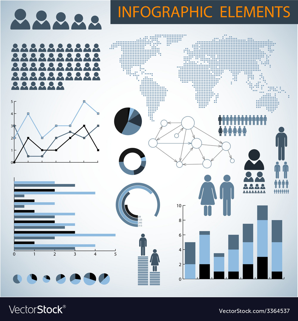 Big set of infographic elements vector | Price: 1 Credit (USD $1)