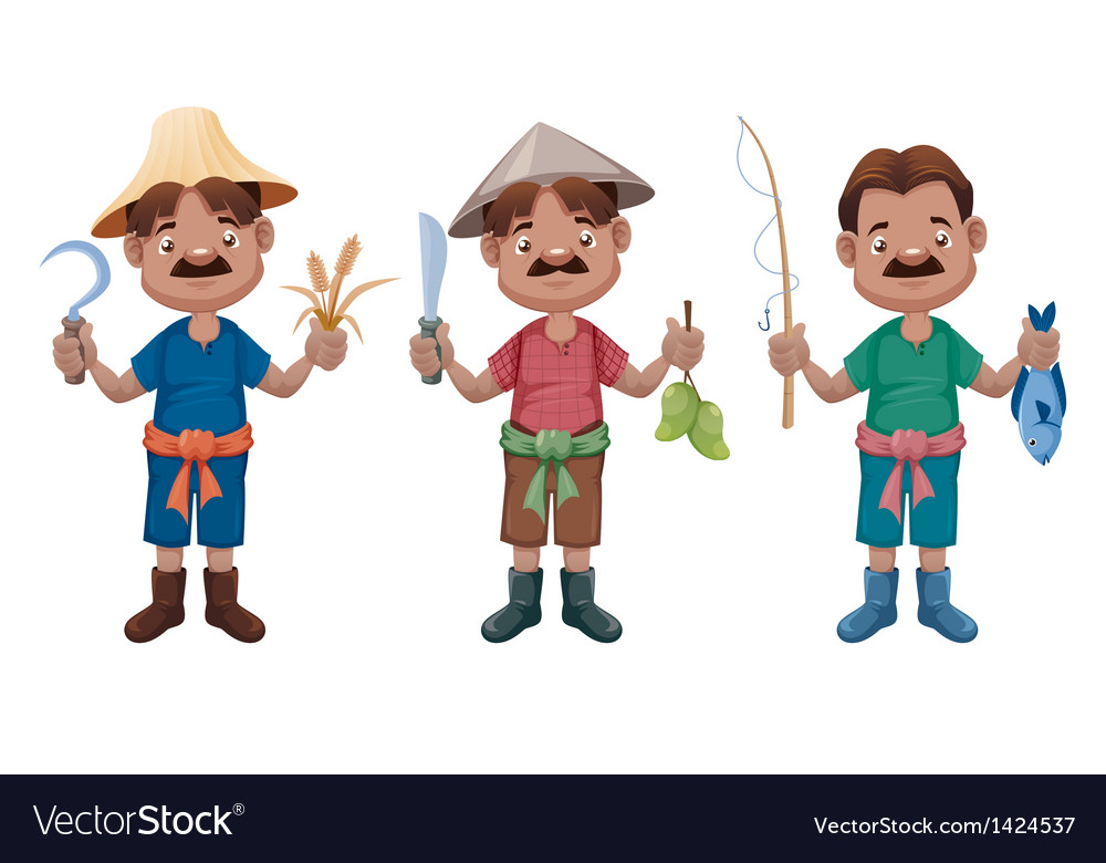 Cartoon farmer vector | Price: 3 Credit (USD $3)