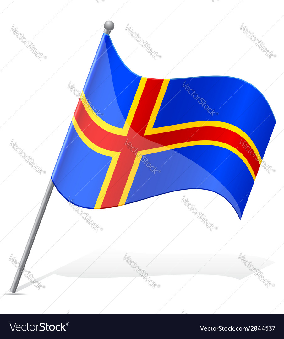 Flag of aland vector   Price: 1 Credit (USD $1)