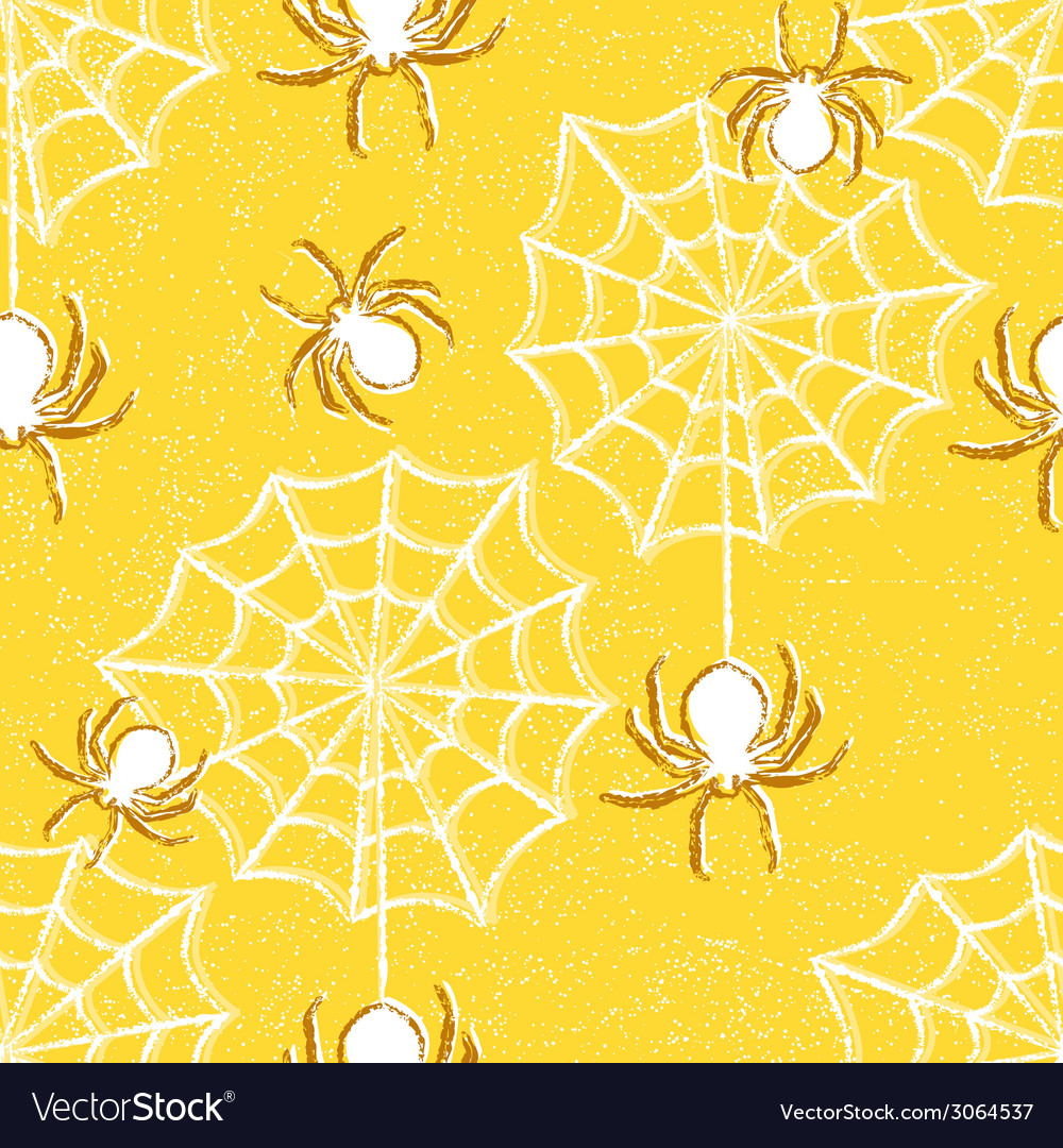 Halloween seamless pattern with spiders vector | Price: 1 Credit (USD $1)