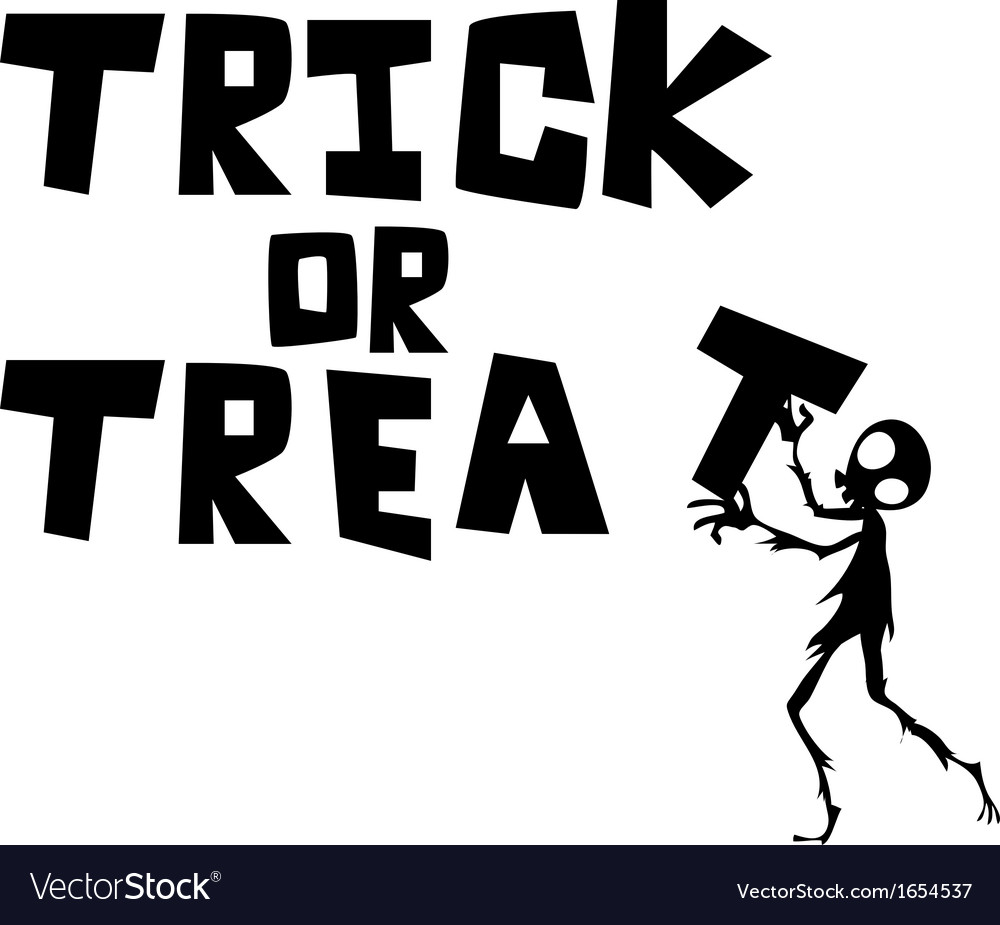 Halloween trick or treat vector | Price: 1 Credit (USD $1)