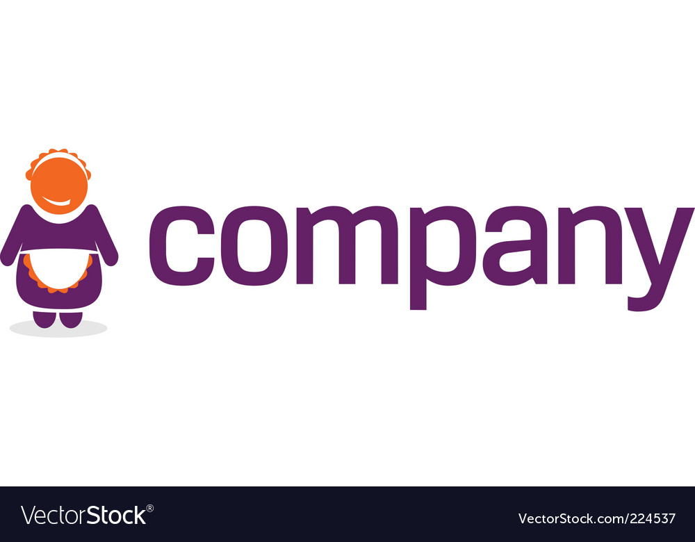 Maid logo for service company vector | Price: 1 Credit (USD $1)