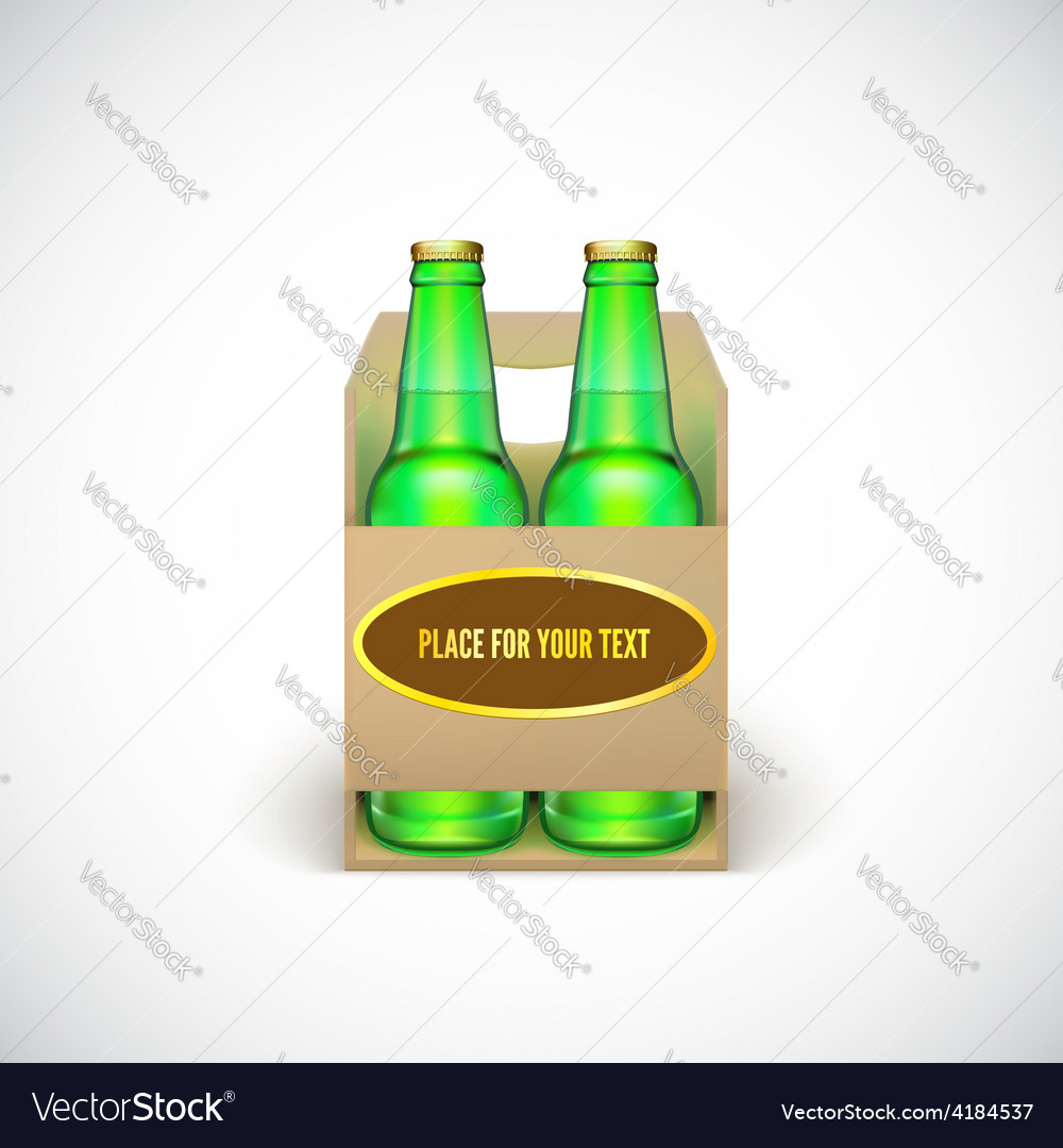 Packaging of beer vector | Price: 3 Credit (USD $3)