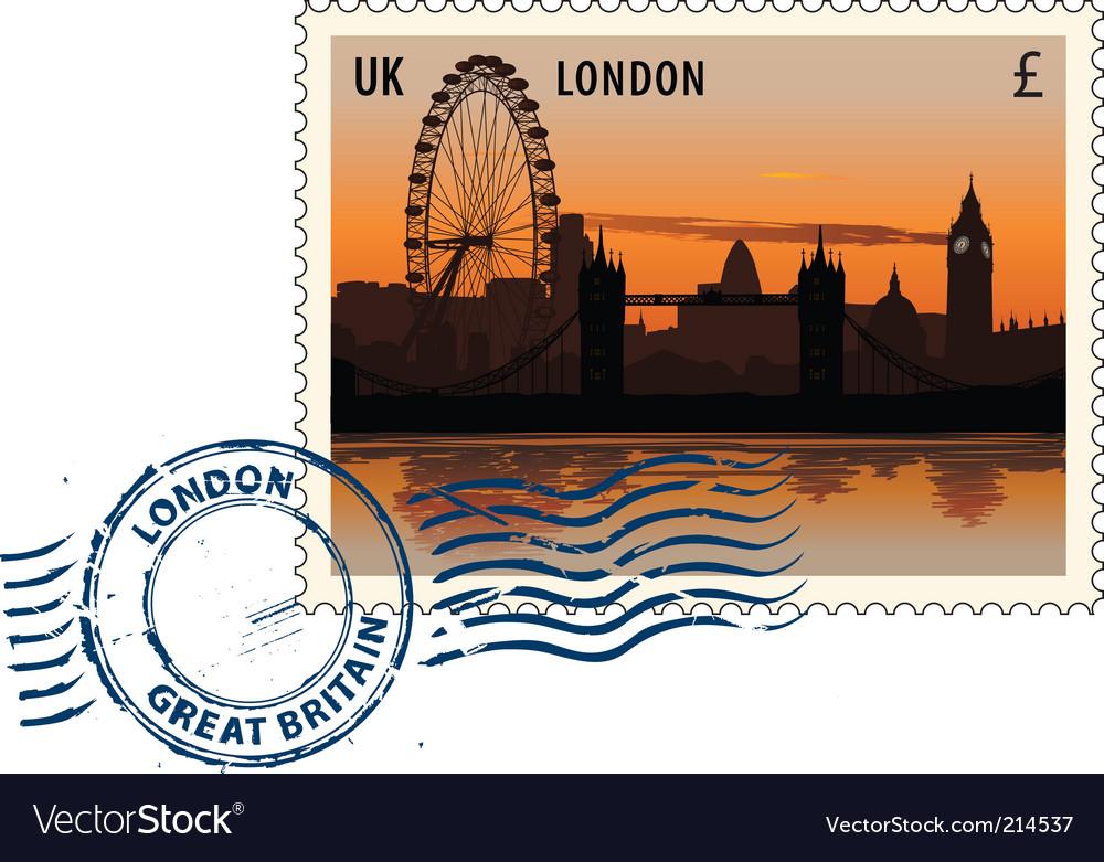Postmark from london vector