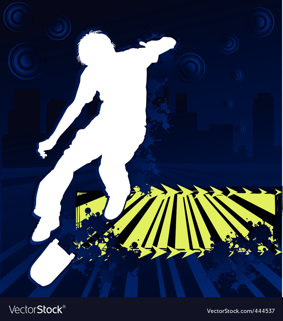 Skateboarder grunge poster vector | Price: 1 Credit (USD $1)