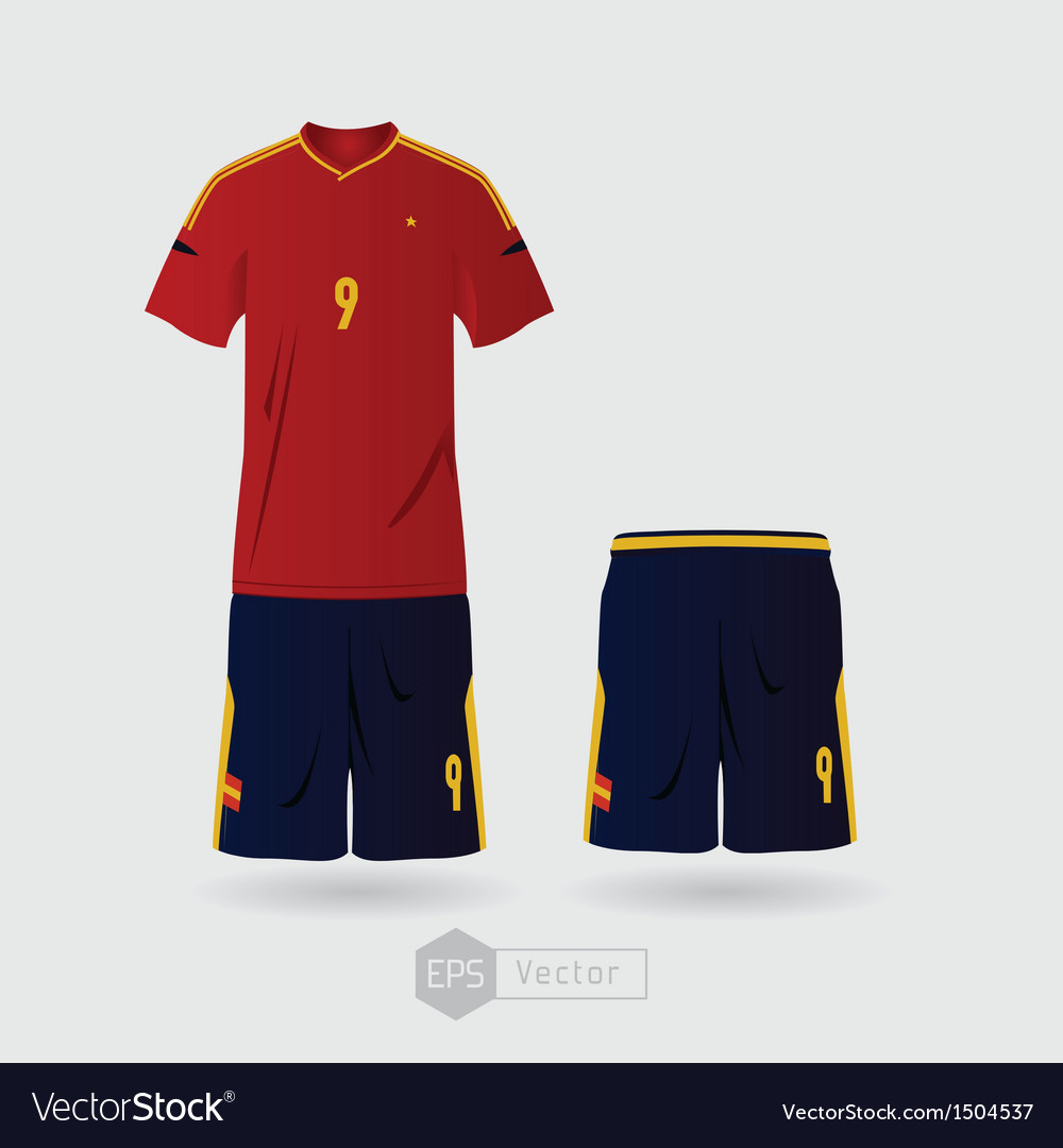 Spain team uniform vector | Price: 1 Credit (USD $1)