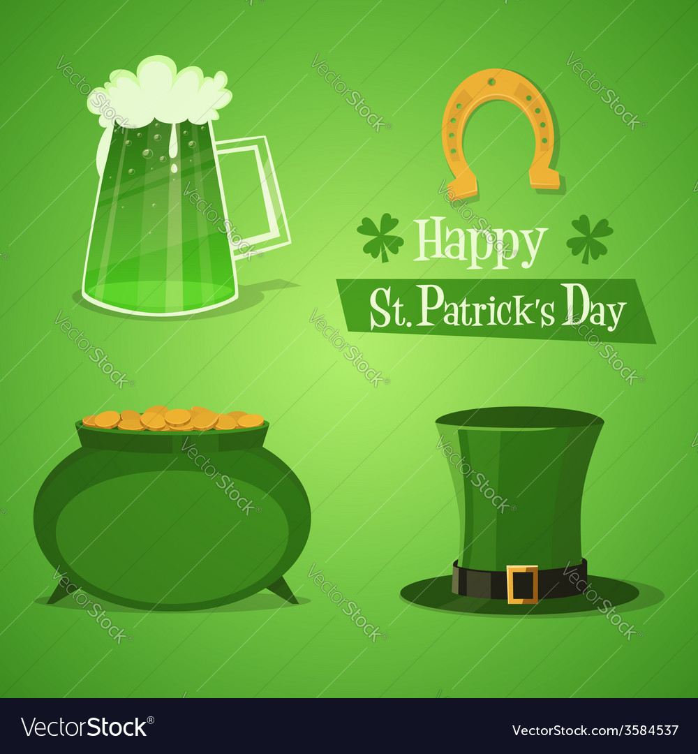St patricks icons vector | Price: 1 Credit (USD $1)