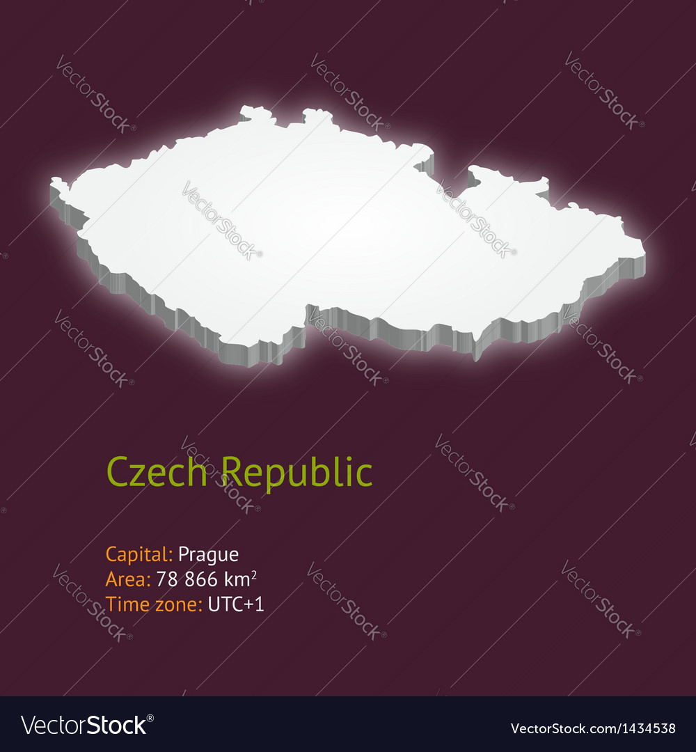 3d map of the czech republic vector | Price: 1 Credit (USD $1)