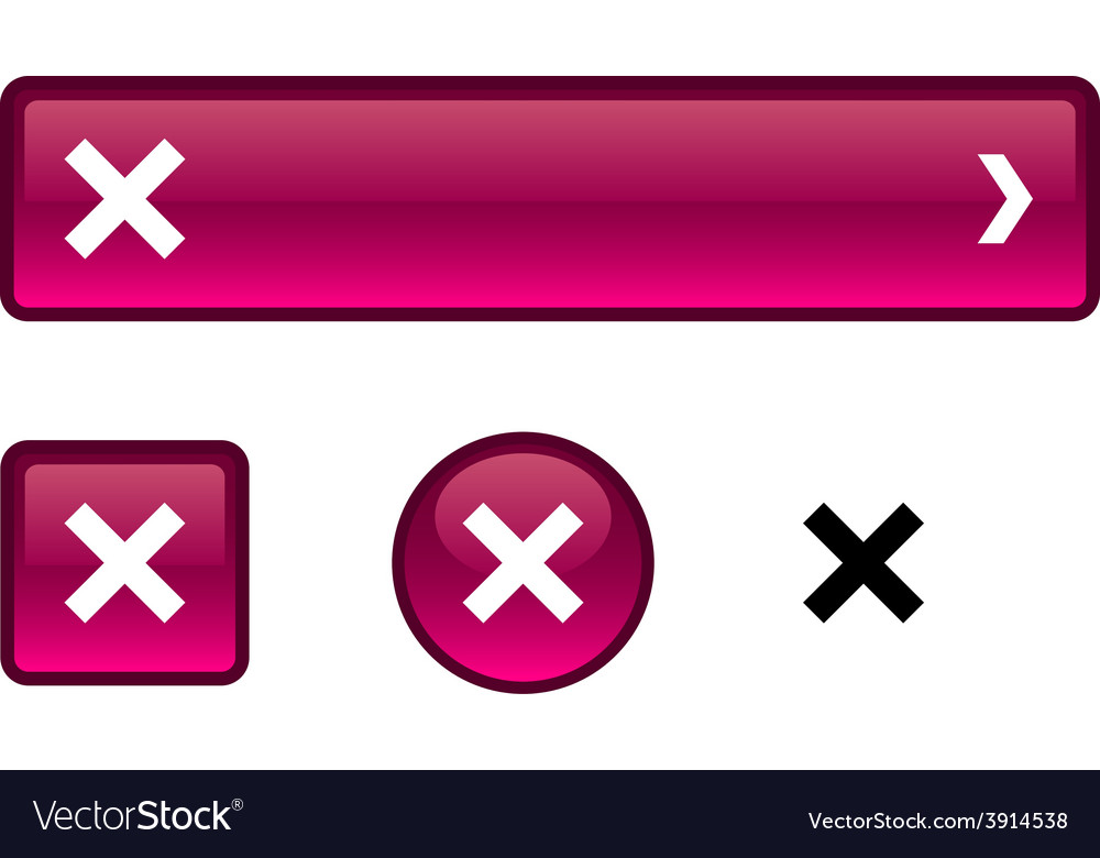 Abort button set vector | Price: 1 Credit (USD $1)