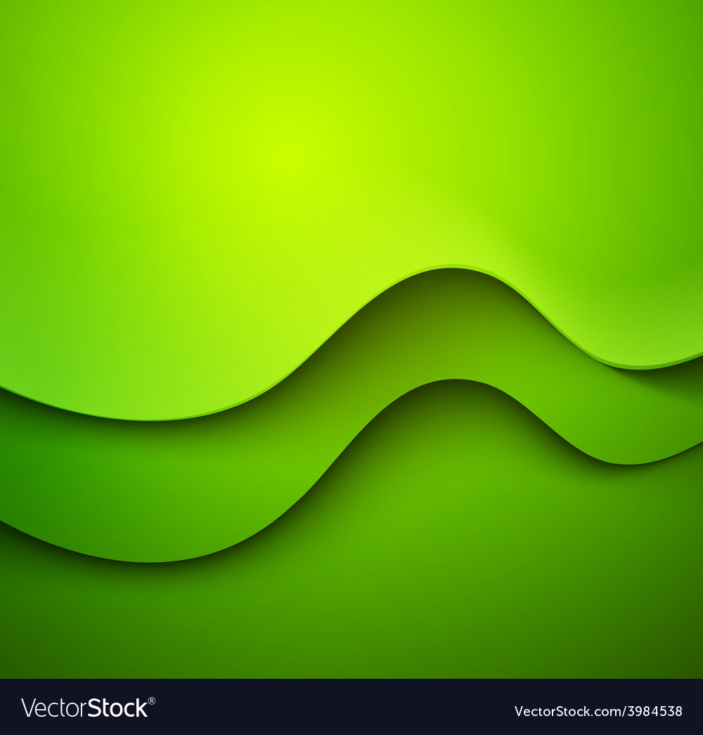 Abstract colorful green waved background vector | Price: 1 Credit (USD $1)