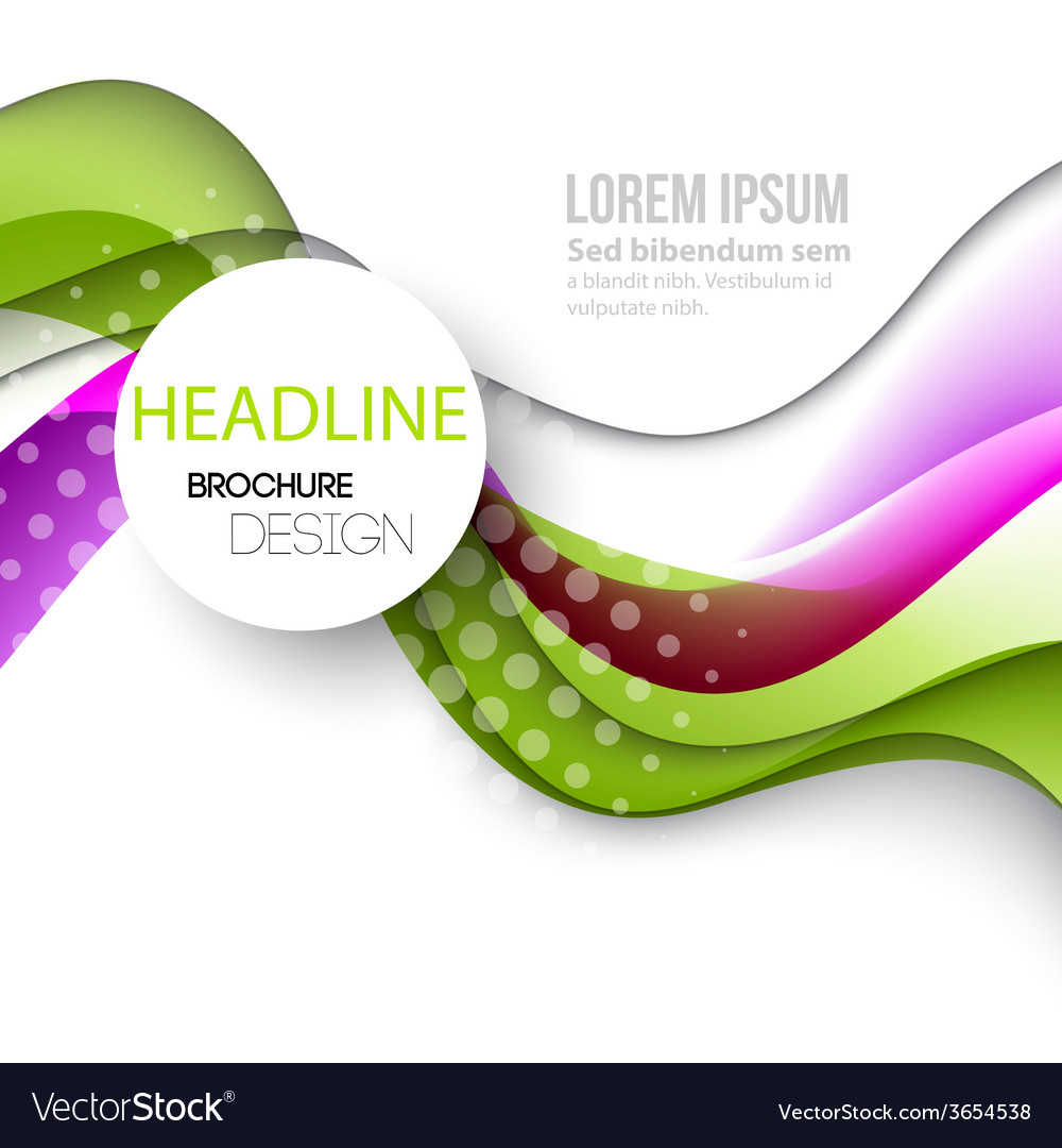 Abstract curved lines background template brochure vector   Price: 1 Credit (USD $1)