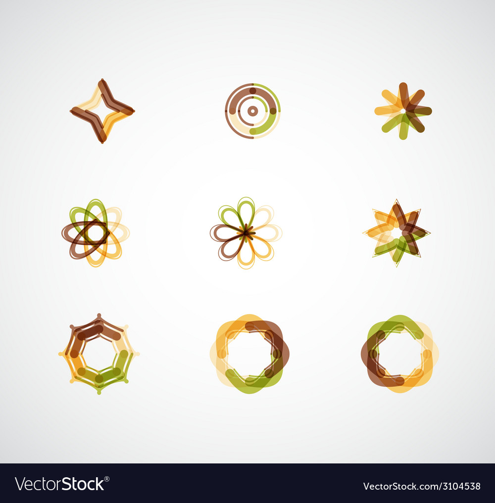 Abstract symmetric business icons vector | Price: 1 Credit (USD $1)