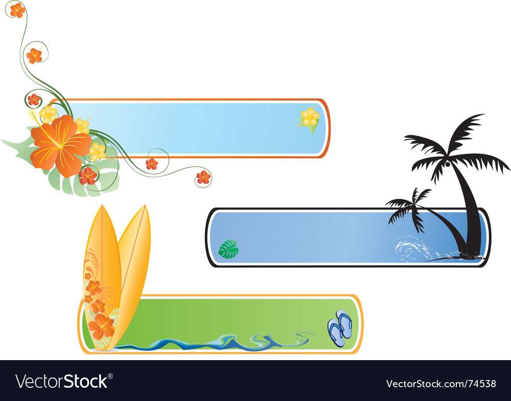 Beach banner vector | Price: 1 Credit (USD $1)
