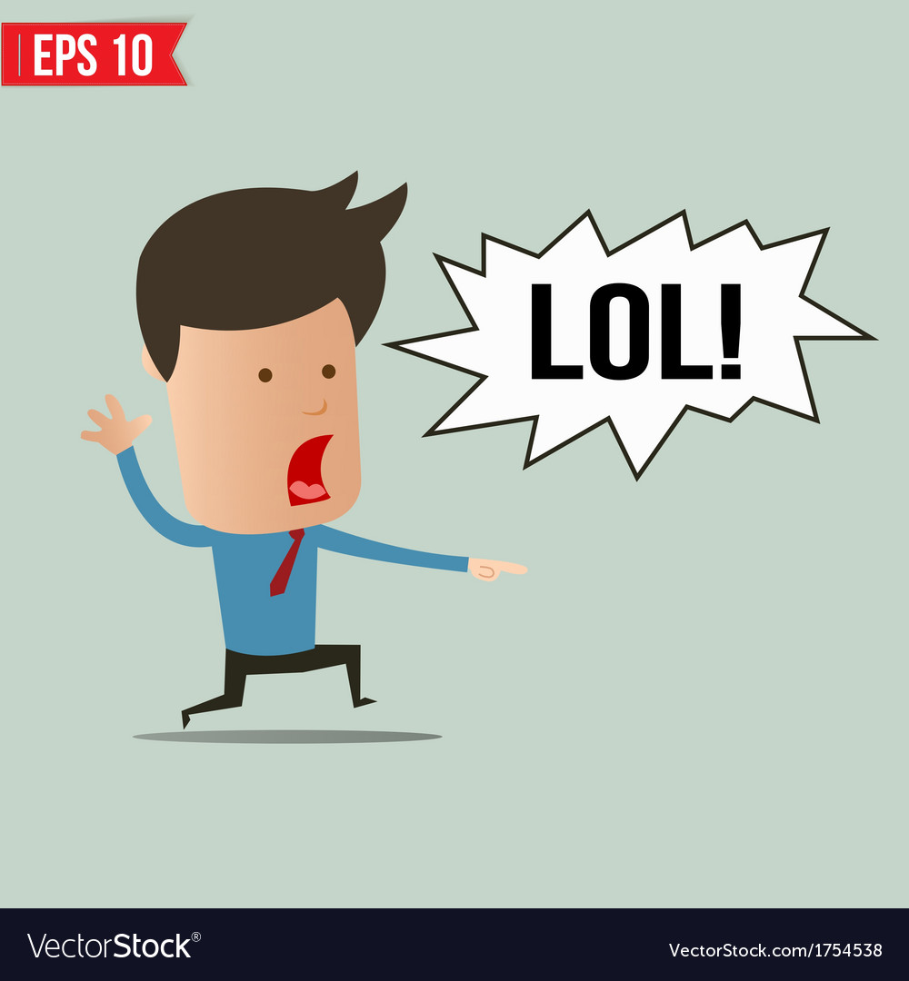 Businessman laughing out loud - - eps10 vector | Price: 1 Credit (USD $1)