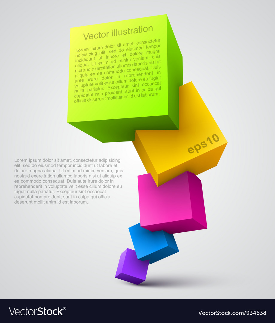 Colorful cubes 3d vector | Price: 1 Credit (USD $1)
