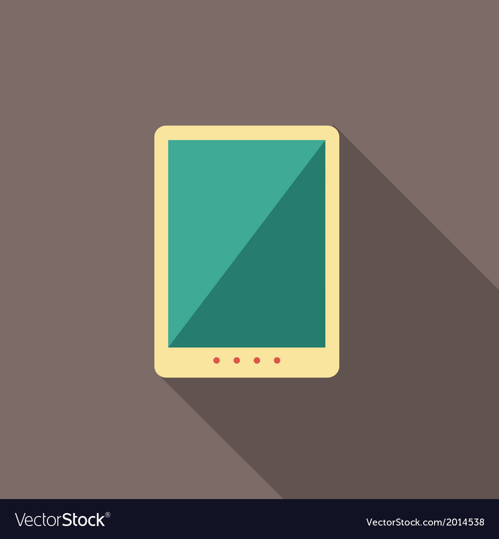 Flat tablet vector | Price: 1 Credit (USD $1)