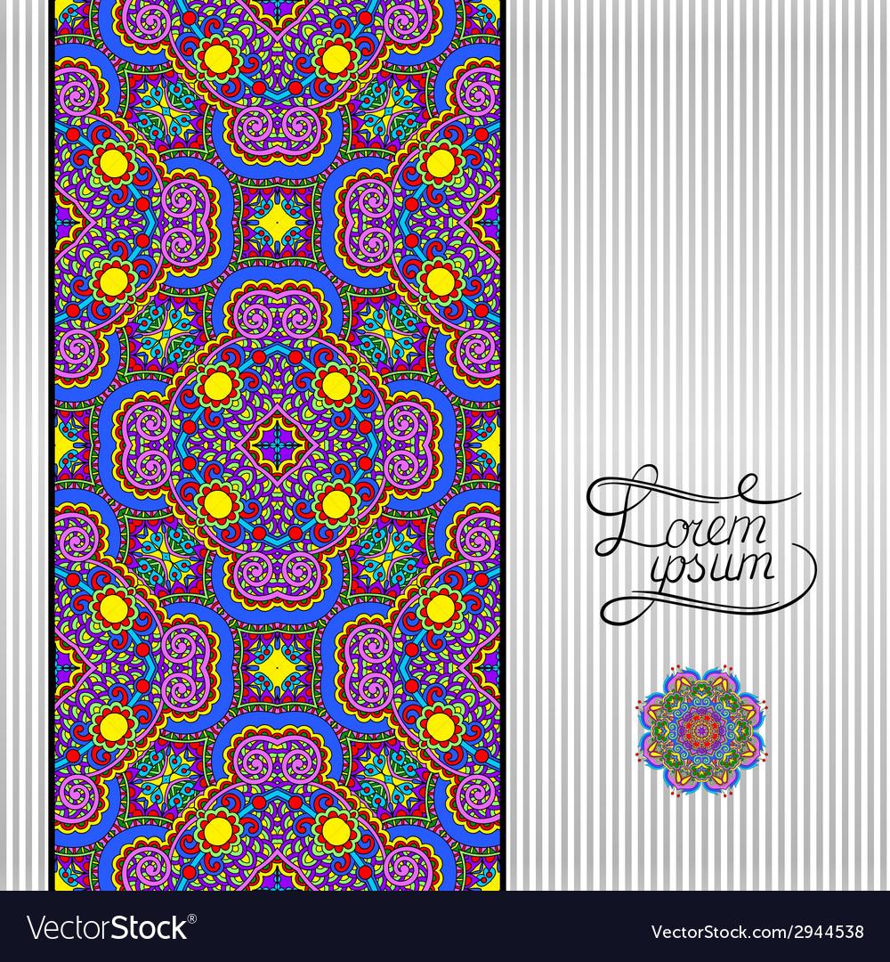 Floral geometric background vintage ornamental vector   Price: 1 Credit (USD $1)
