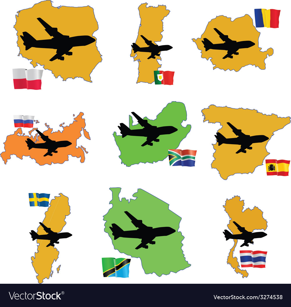 Fly me to the romania russia south africa south ko vector | Price: 1 Credit (USD $1)