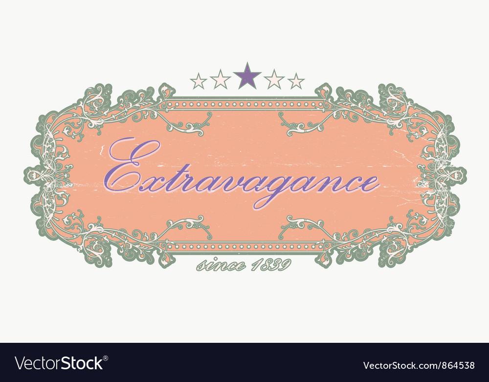 Grunge floral label vector   Price: 1 Credit (USD $1)