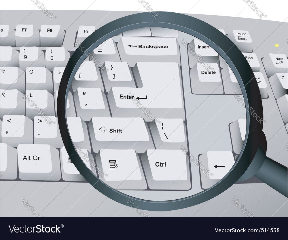 Keyboard and magnifier vector | Price: 1 Credit (USD $1)