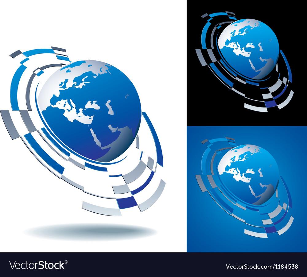 Logo europe segment vector | Price: 1 Credit (USD $1)