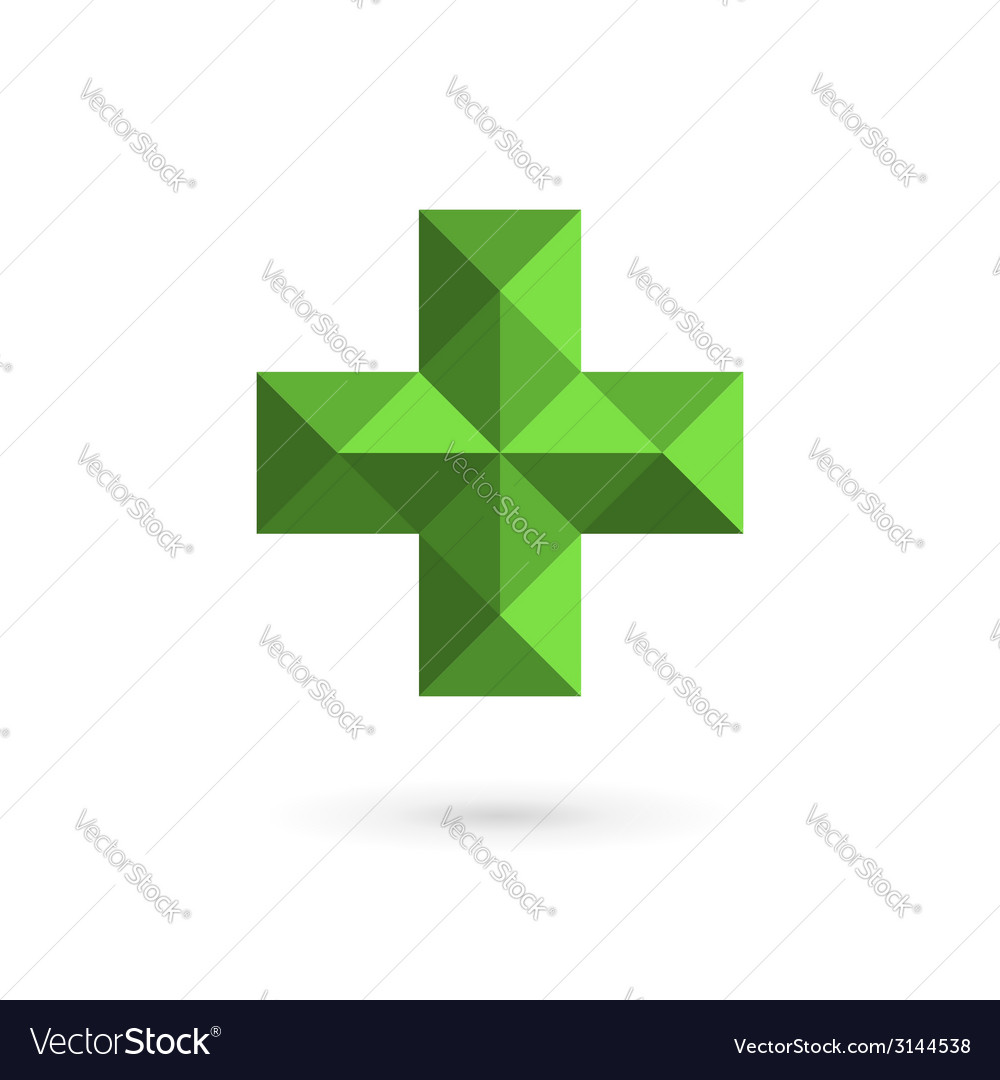 Medical logo icon design template with cross and vector | Price: 1 Credit (USD $1)