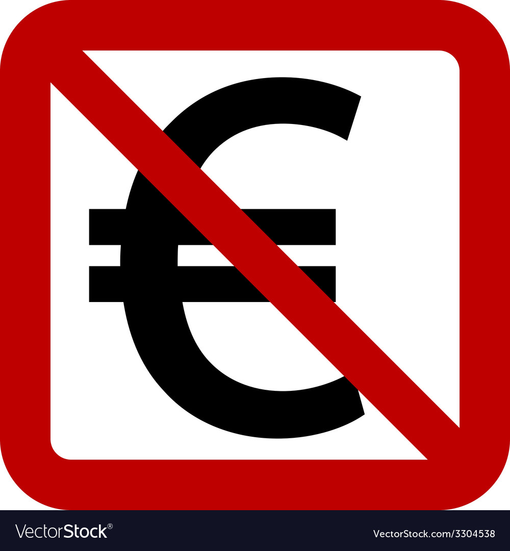 No euro sign vector | Price: 1 Credit (USD $1)