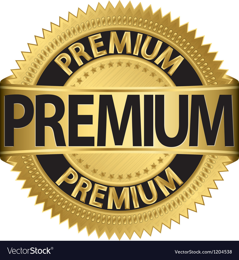 Premium golden label vector | Price: 1 Credit (USD $1)