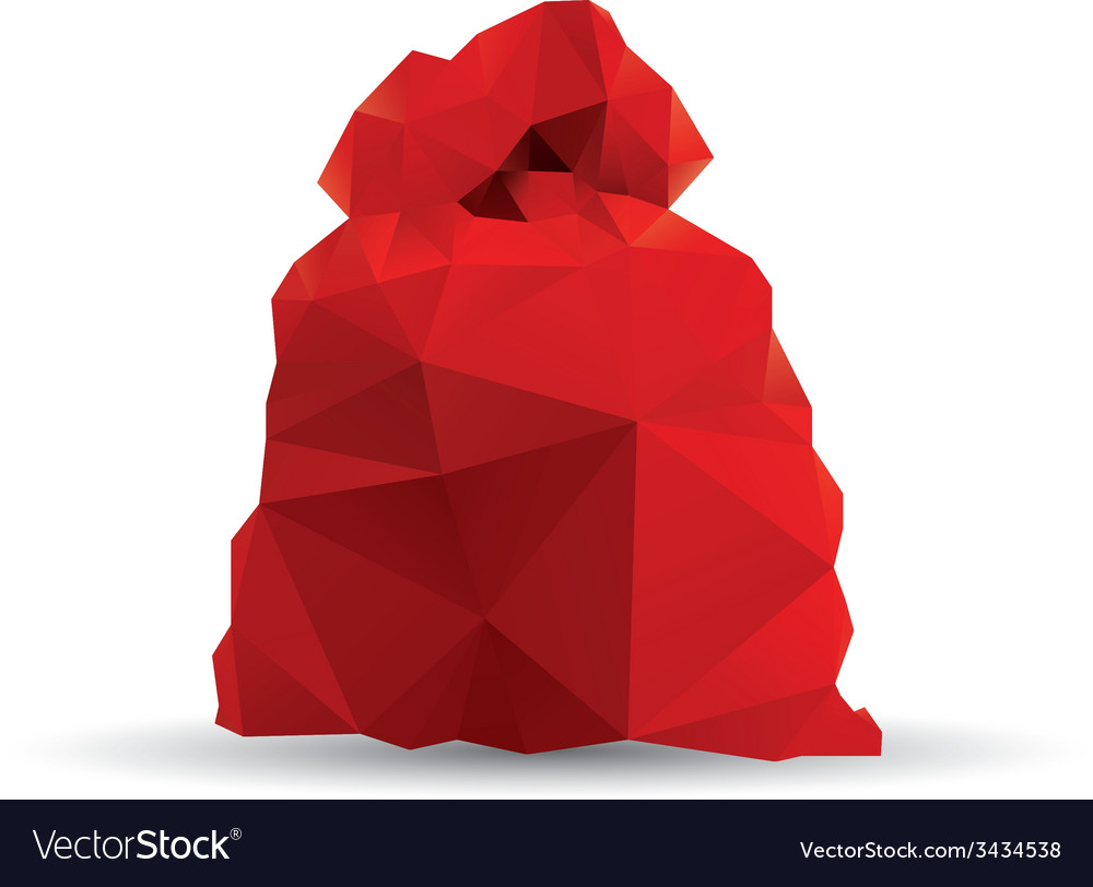 Santa claus red bag vector | Price: 1 Credit (USD $1)