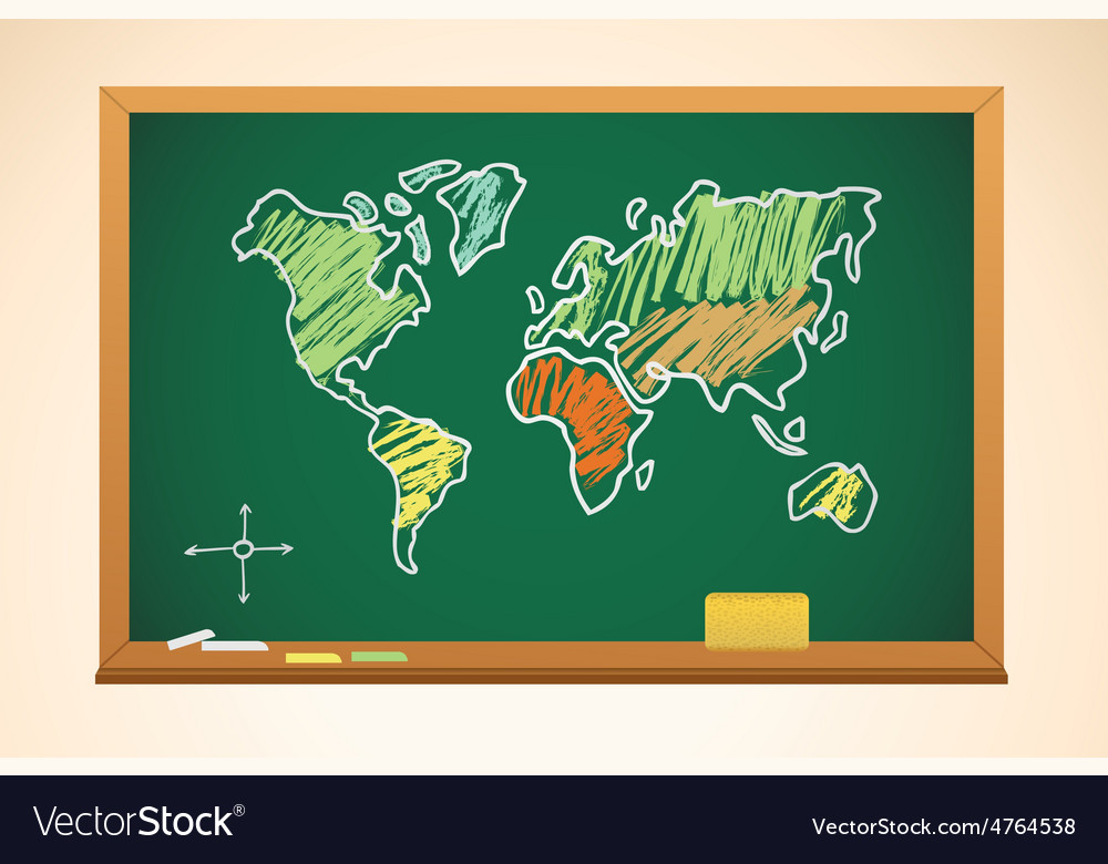 School background with geography map drawing on vector | Price: 3 Credit (USD $3)