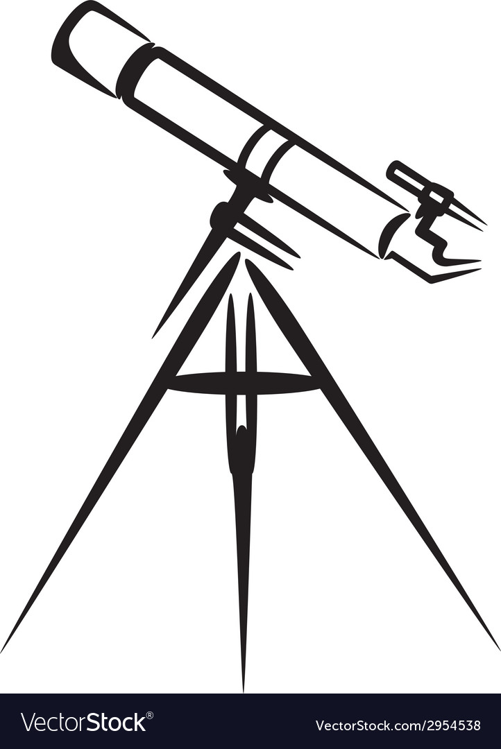Simple with telescope vector | Price: 1 Credit (USD $1)