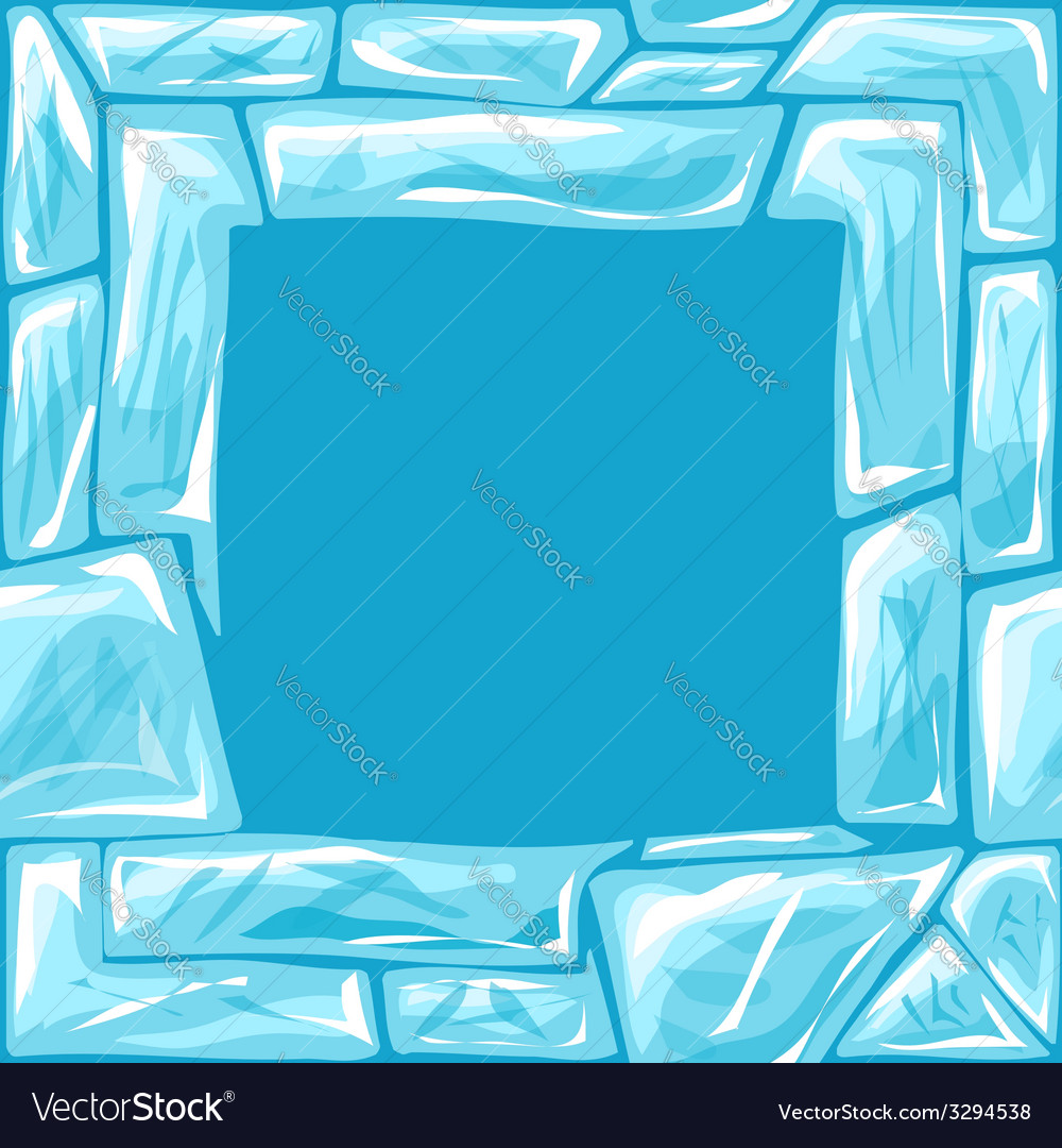 Square frame on ice seamless pattern vector   Price: 1 Credit (USD $1)