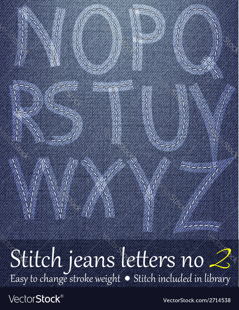 Stitched jeans letters 2 vector | Price: 1 Credit (USD $1)