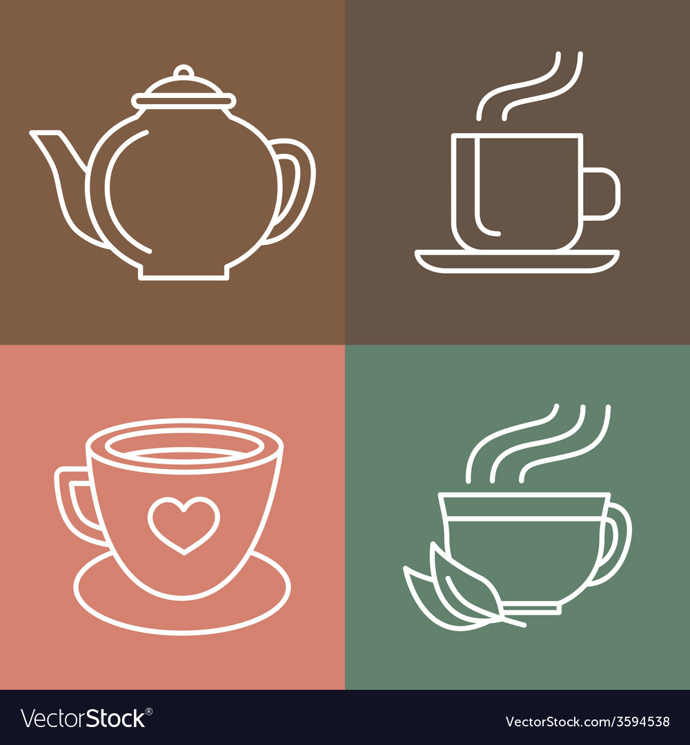 Tea and coffee logos vector | Price: 1 Credit (USD $1)