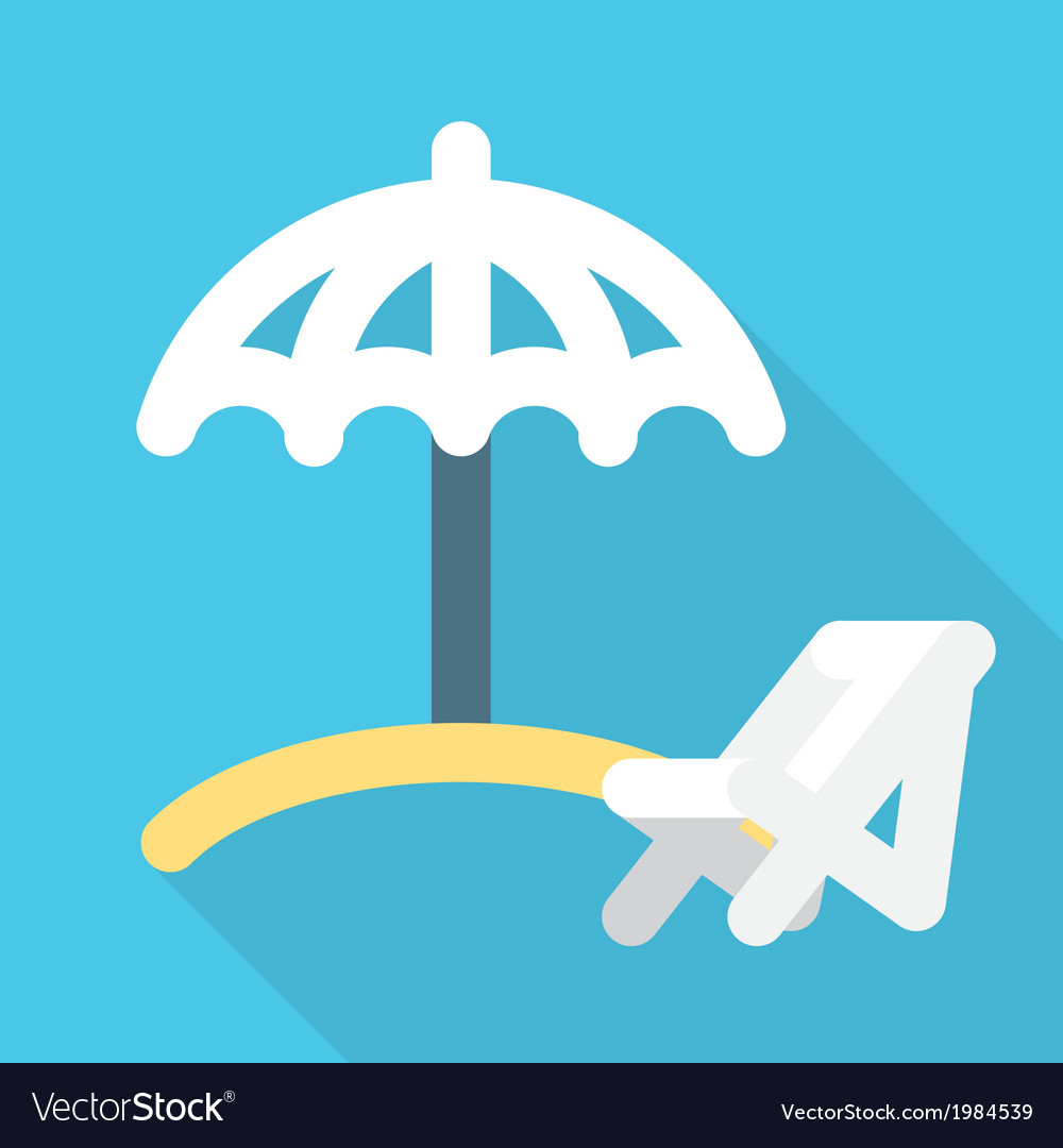Beach umbrella vector | Price: 1 Credit (USD $1)