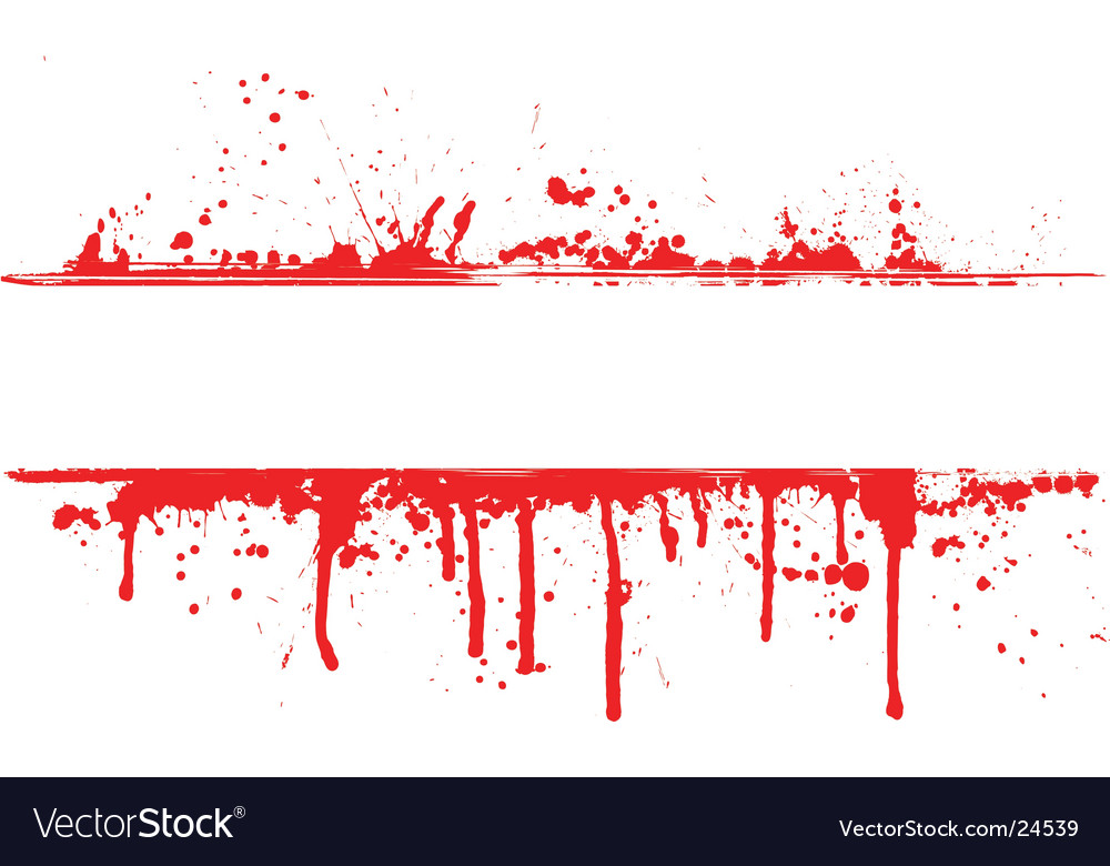 Blood splat border vector | Price: 1 Credit (USD $1)