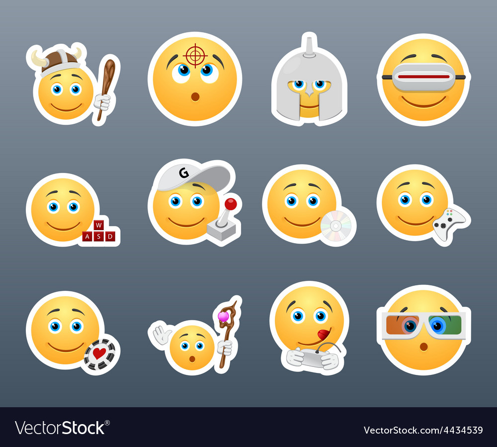 Emoticons that play vector | Price: 1 Credit (USD $1)