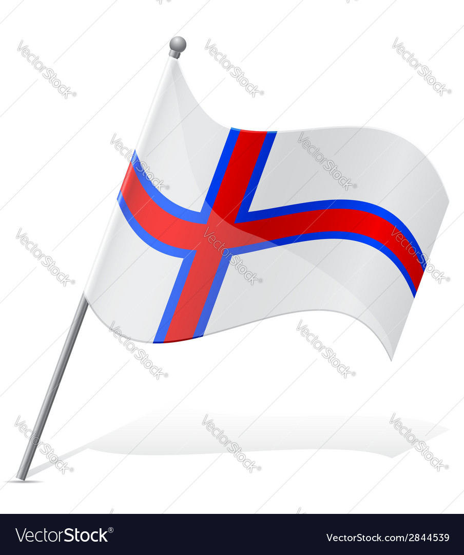 Flag of faroe islands vector | Price: 1 Credit (USD $1)