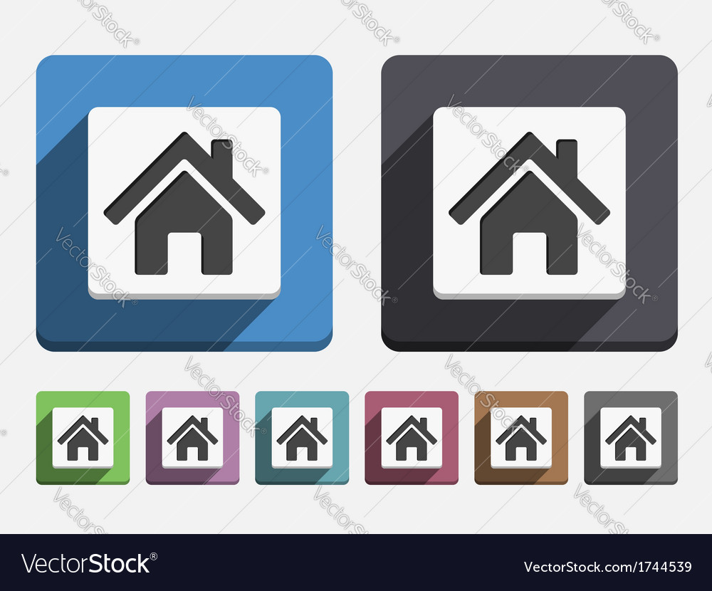 Flat house icon vector | Price: 1 Credit (USD $1)