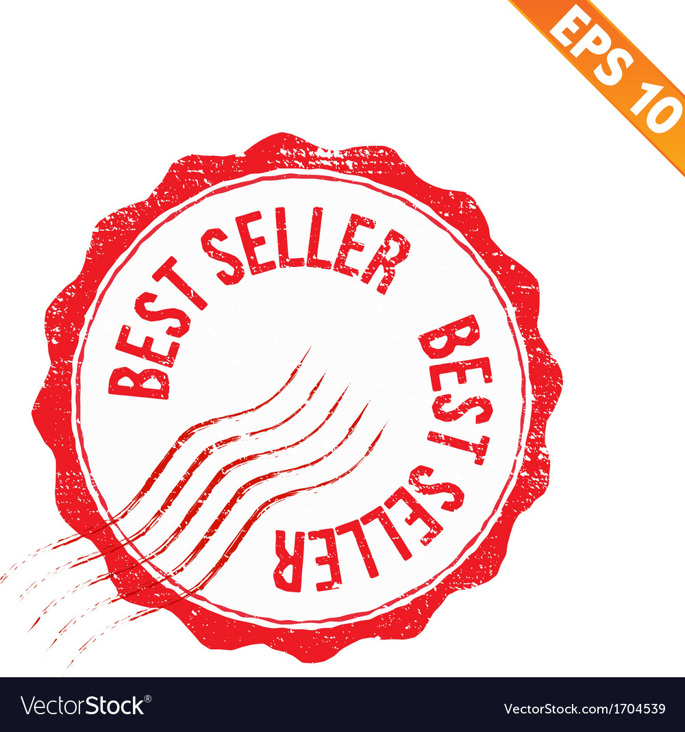 Grunge best seller guarantee rubber stamp - vector | Price: 1 Credit (USD $1)