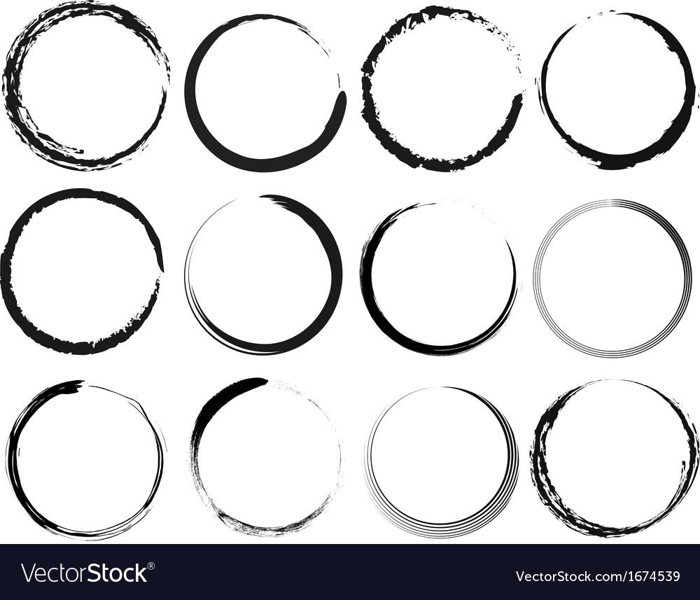 Grunge circles vector | Price: 1 Credit (USD $1)